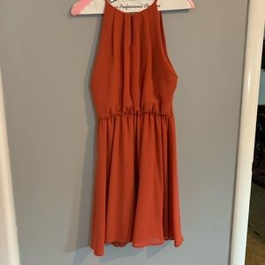 Rusty orange cocktail dress
